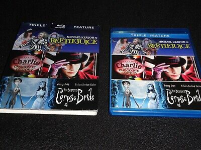 Beatlejuice / Charlie & The Chocolate Factory / Corpse Bride (Like New)No Code