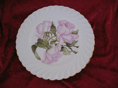 H & C Roses Plate With Leaves