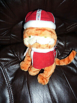 "His Majesty Retired 2006 TY Beanie Babies chubby Garfield Cat 8"" Bean Plush king"