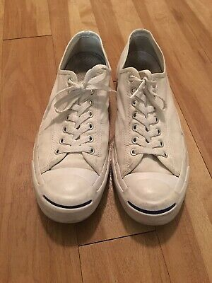 c38fb2acb7ae4a Converse Jack Purcell Signature Ox Shoes Mens size 11 M White Canvas Shoes