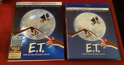 E.T. The Extra-Terrestrial Anniversary Edition Blu-ray / DVD 2-Disc w/ Slipcover