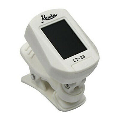 LT-23 Clip-on Tuner LCD Digital Tuner for Guitar Bass Acoustic,White A7H1