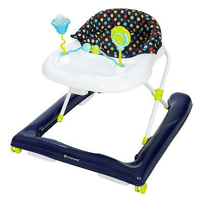 Baby Trend 2.0 Activity Walker Extra Wide Removable Bar w/ Toys Blue Sprinkles