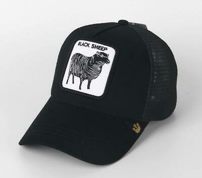411b5e92e7a1d GOORIN BROS TRUCKER Hat Snapback Cap Black Sheep-black ANIMAL FARM Gallo  Beaver