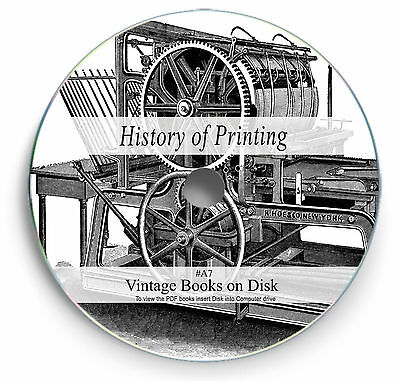 Rare Vintage Books on DVD History of Printing Print Press Blocks Type Setting A7