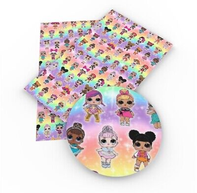 LOL DOLL lol  Faux Leather Sheets, Printed Faux Leather, A4 Vinyl Fabric Sheets