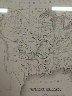 1836 Bradford Map Authentic / Beautifully framed conservation UV