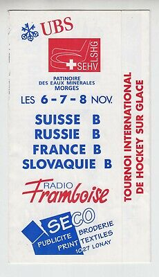 RARE tournament ice hockey 1998 Switzerland - Russia Slovakia France second team