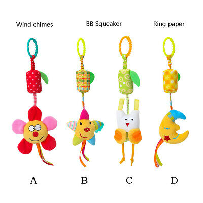 Multistyle Stroller Car Seat Travel Cute Hanging Ring Bell Toys Baby Rattles Toy