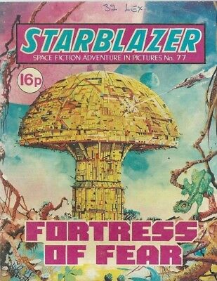 Fortress Of Fear,no.77,starblazer Space Fiction Adventure In Pictures,comic