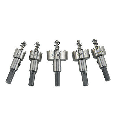 5x Hole Saw Tooth Drill Bit Set Stainless Steel For Metal Wood Cutter Tool HSS