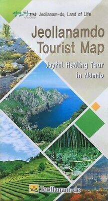 JEOLLANAMDO Tourist Map (S. Korea) - Free UK Postage