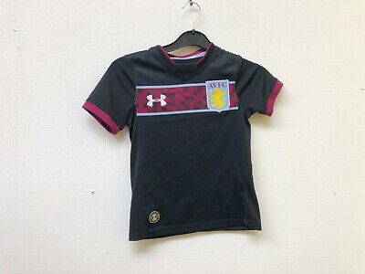 Aston Villa FC Kid's Under Armour 2017/18 Away Shirt - XS - Callum 40 - New