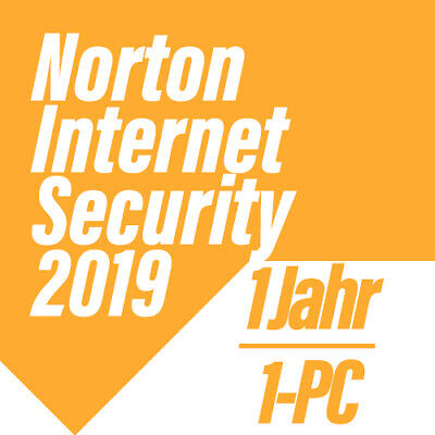 Norton Internet Security 2019 VOLLVERSION DEUTSCH Security - 1-PC für 1 Jahr