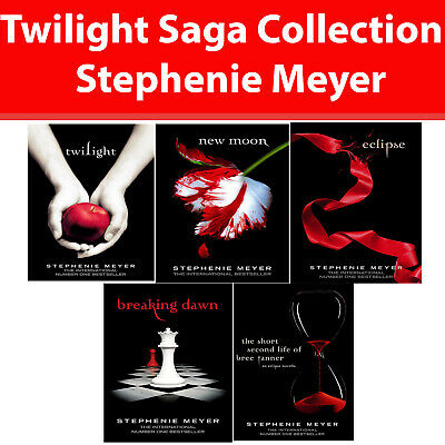 Twilight Saga Collection Stephenie Meyer 5 Books Set Eclipse,Breaking Dawn NEW