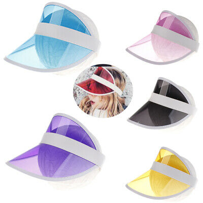 New Visor Sun Hat Golf Tennis Beach Unisex Cap Summer UV Protection Transparent