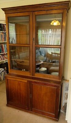 Lovely Antique Vintage Large Edwardian(?) Glazed Bookshelves / Display Cabinet