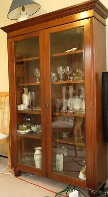 Lovely Antique Vintage Edwardian(?) Glazed Bookshelves / Display Cabinet