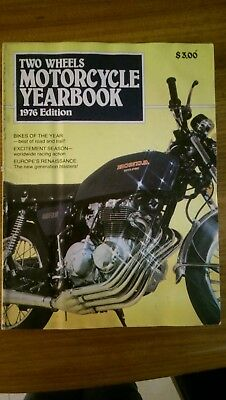 Two Wheels Motorcycle YearBook 1976 Edition - Bikes of the Year