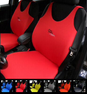 2 Red Car Seat Covers For Peugeot 104 106 107 108 204 205 206 207 208 2008