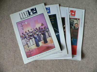 4 x Line Up Magazine 1992 - 1996, Journal of the Institute of Broadcast Sound