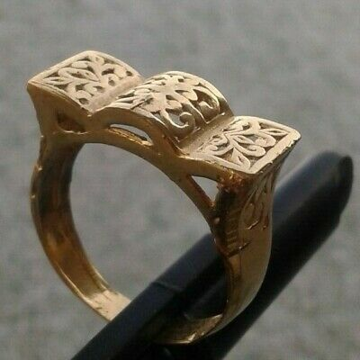 rare ancient viking bronze ring solid beautiful authentic stunning