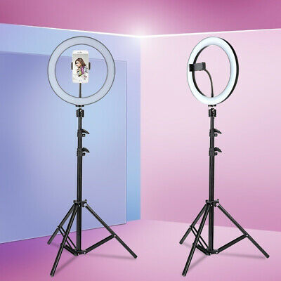"""10"""" Dimmble Stand LED Ring Light Triopd W/Phone Clip For Live Streaming Selfie"""
