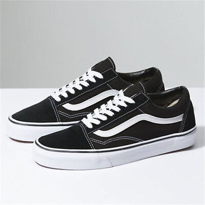 VAN Old Skool Skate Shoes Black/White All Size Classic Canvas Sneakers UK3-UK9