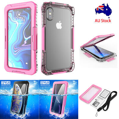 Waterproof Shockproof  Clear Full Hard Case Cover Fr Apple iPhone XS Max XR XS X