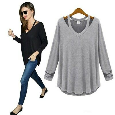 New Womens Ladies Long Sleeve Tops Shirt Blouse Casual Elegant Loose Plus Size