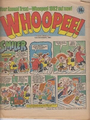 Comic. Whoopee! 12 December, 1981. In good condition.