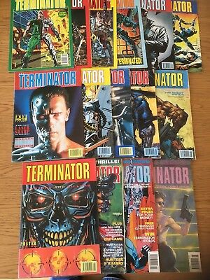 Vintage/retro 1990's Terminator Comic Books Job Lot/bundle X 15