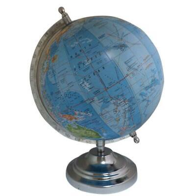 Globe World Map Earth Rotating Atlas Blue Ocean School Home Office Table Decor