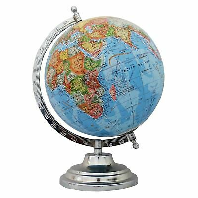 Globe World Map Earth Rotating Atlas Blue Ocean Home School Office Table Decor