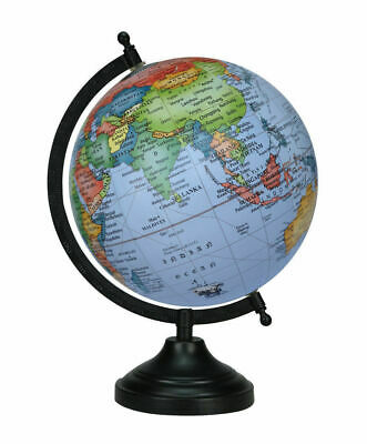 Globe World Map Earth Rotating Atlas Sky Blue Ocean School Home Table Decor