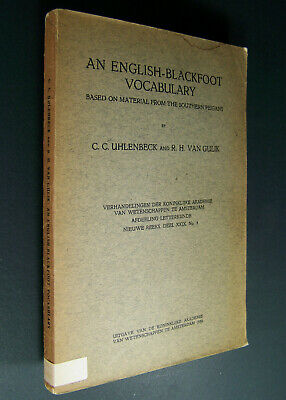 ENGLISH - BLACKFOOT VOCABULARY of 1930 Peigans, First Nations, American Indian