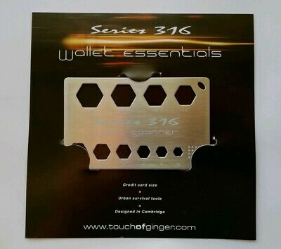 Wallet Spanner- Credit Card Purse Size Spanner, Stainless Steel, Bicycle, Bike