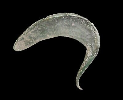 A Large European Bronze Sickle, 1000-800 Bc