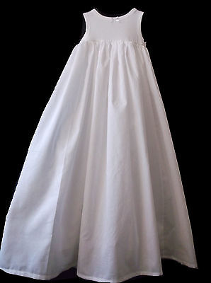 BABY CHRISTENING BAPTISM GOWN DRESS COTTON PETTICOAT LONG UNDERSKIRT all lengths