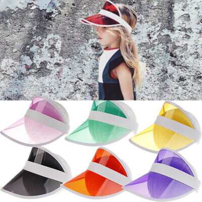 Toddler Kids Girl Boy UV Protection Sun Visor Hat Wide Brim Adjustable Beach Cap