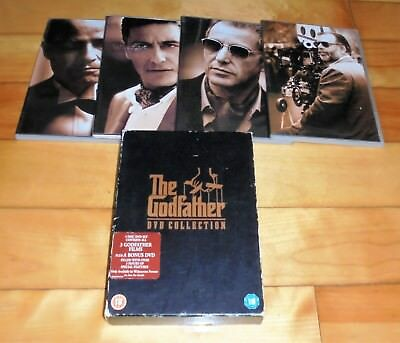 Gangster Mafia DVD Bundle The Godfather Trilogy Collection De Niro Brando Pacino