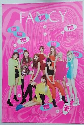 Twice - Fancy You (7th Mini Album) Unfolded Official Poster Hard Tube Case