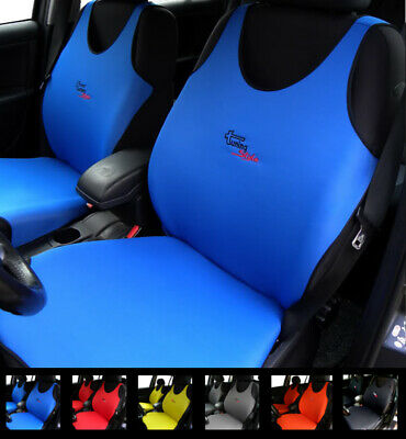 2 Blue Car Seat Covers For Peugeot 104 106 107 108 204 205 206 207 208 2008