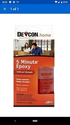 ITW Devcon 20945 S-209 9 oz. 5 Minute Fast Drying Epoxy, Clear
