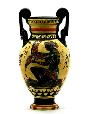 Amphora Vase Goddess Diana Artemis & Athena Ancient Greek Pottery Ceramic