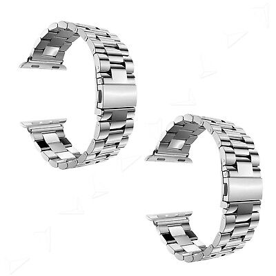 Replacement Loop Stainless Steel Watch Strap Bands for iWatch 38mm/42mm Silver