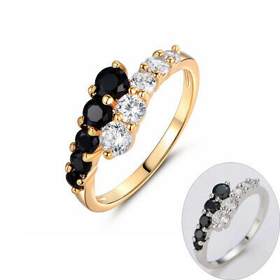 Wedding Engagement Jewelry Crystal Silver Plated Cubic Zirconia Finger Rings