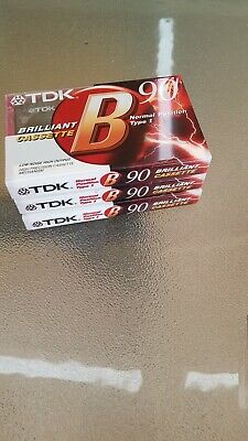 TDK B90 BLANK CASSETTES X 3 New And Sealed