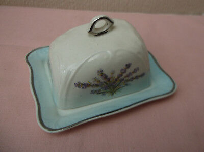 Palissy Miniature Cheese / Butter dish - Made in England - Porcelain/china