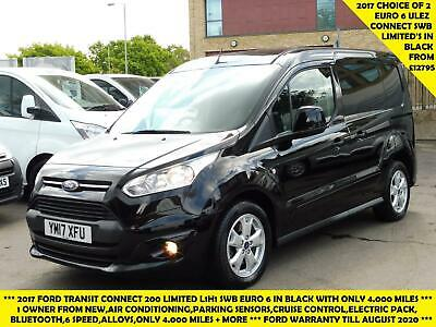 2017 Ford Transit Connect 200 Limited L1 Swb Euro 6 Van In Black , Choice Of 2 W